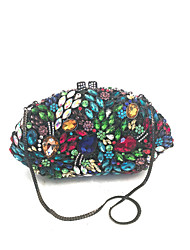 Women Vintage Evening Clutch Bags Handmade with Glass Stone in Multi