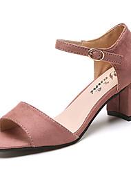 Mulheres sandálias verão conforto pu exterior quadra talão rebite andar