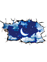 3D Wall Stickers Wall Decals Style Moon Night Sky PVC Wall Stickers
