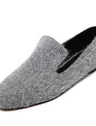 Women's Flats Spring Comfort Fur Casual Flat Heel Pom-pom