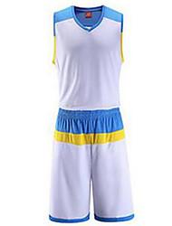 Муж. Без рукавов Баскетбол Джерси + велошорты Шорты Дышащий Оранжевый Желтый Розовый Зеленый Синий L XL XXL XXXL