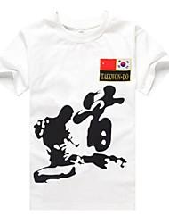 Taekwondo mangas curtas algodão t-shirts