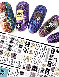 1pcs fashion nail art 3d stickers lovely image personnalité english alphabet design for nail diy beauty f121