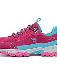Camel Women's Outdoor  Comfort Suede Flat Heel Lace-up Hiking Athletic Shoes Color Fuchsia