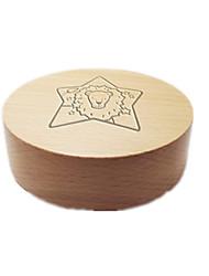 Music Box Circular Holiday Supplies Wood Unisex