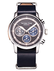 Men Sport Watch Fashion Watch Wrist watch Japanese Japanese Quartz Water Resistant / Water Proof Genuine Leather Band Cool Navy Dark Blue