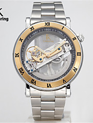 Men's Mechanical Watch Quartz Alloy Band Silver