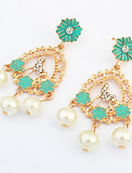 Drop Earrings Jewelry Euramerican Fashion Personalized Pearl Alloy Jewelry Jewelry For Wedding Special Occasion 1 Pair