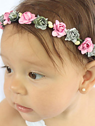 Kids Fabric Hair Clip Flowers Cute Party Casual Spring Summer Headband Headpiece Head Wreath Hair Accessories Flower Girls