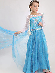 Snow Queen Elsa Party Dress Costume Princess Cosplay Dress Up