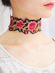 Women's Choker Necklaces Collar Necklace Scarf Necklaces Jewelry Flower FabricBasic Flower Style Cute Style Handmade Bohemian British