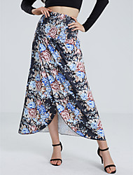 Women's Casual/Daily Knee-length Skirts,Simple A Line Print Summer