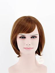 Япония и юг Корея мода леди короткий пункт парик светло-коричневые стороны челка прямые волосы высокой температуре провод парик