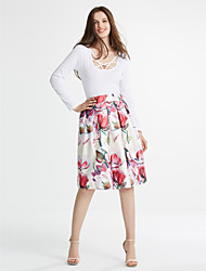 Women's Floral  Casual / Day / Holiday Knee-length K139-2