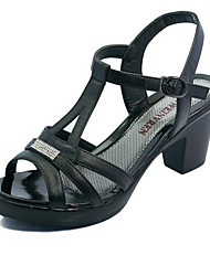 Damen-High Heels-Lässig-PU-Stöckelabsatz-Fersenriemen-