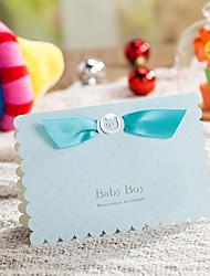Personalizado Dobrados Convites de casamentoEnvelope Etiqueta do envelope Fan programa O menu do casamento Cartões de convite Cartões de