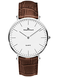 Fashion Watch Quartz Leather Band Red Brown Red Brown