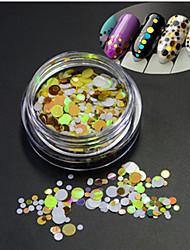 1bottle moda quente glitter rodada paillette decoração nail art diy beleza rodada fatia p20