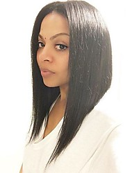 Machine Made Heat Resistant Synthetic Wig Short Silky Straight Hair Style Ombre Wigs 14inch  260g WS630