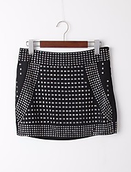 Women's High Rise Mini Skirts Bodycon Solid