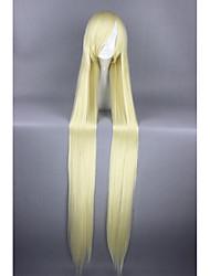 Mujer Pelucas sintéticas Sin Tapa Muy largo Liso Amarillo Peluca de cosplay Peluca de Halloween Peluca de carnaval Las pelucas del traje