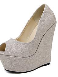 Mujer-Tacón Cuña-Zapatos del club-Tacones-Vestido-PU-