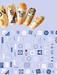 1pcs Fashion Lovely English Alphabet Design Nail Art 3D Stickers Nail DIY Beauty Personality Design Creative Decoration F165