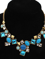USA Personality Geometric Euramerican Africa Hypoallergenic Flower Statement Strands Collar Choker Rhinestone Necklaces
