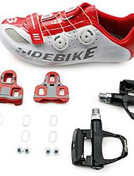 BOODUN/SIDEBIKE® Tênis Tênis para Ciclismo Sapatos para Ciclismo Sapatilhas de Ciclismo com Travas & Pedal UnisexoAnti-Escorregar