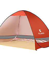 2 Personen Zelt Einzeln Automatisches Zelt Einzimmer Camping Zelt 1500-2000 mm EisenFeuchtigkeitsundurchlässig Wasserdicht