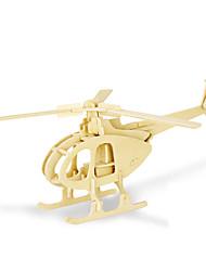 Quebra-cabeças Quebra-Cabeças 3D Blocos de construção Brinquedos Faça Você Mesmo Helicóptero 1 Madeira Modelo e Blocos de Construção
