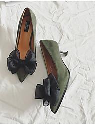Женские туфли на каблуке&Вечер миндаль зеленый красный черный