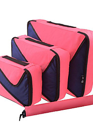 Sell Like Hot Unisex Nylon Professioanl Use Carry-on Bag Pale Blue Aquamarine Gray Blushing Pink 3PCS