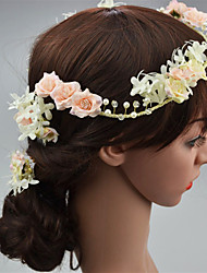 Women's Fabric Hair Clip Handmade Flowers Cute Party Casual Spring Summer Headband Headpiece Head Wreath Hair Accessories