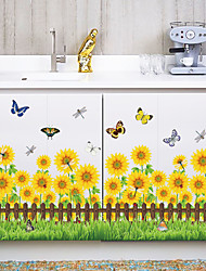 Fashion Sunflowers Skirting Line Wall Stickers DIY Environmental Wall Decals