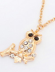 Owl Necklace Long Choker Pendant Sweater Chain Necklace