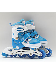 Kid's Inline Skates Adjustable Blue/Blushing Pink