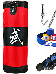 Punching Bag Set with Removable Chain Strap Hand Wraps Boxing Gloves Boxing Sanda Muay Thai Taekwondo KarateDurable Foldable Boxing Strength