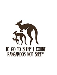 To Go To Sleep Wall Stickers Tropical Kangaroo Vinyl Wall Decals Adesivo De Parede Home Decor For Kids Room