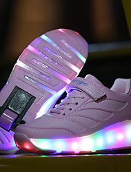 Kids Grils Boys' Athletic Shoes Roller Skate Light Up Shoes Luminous Shoe Leatherette Sport Outdoor Athletic Casual Low HeelMagic Tape LED