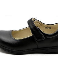 Черный-Девочки-Для праздника-Шерсть-На плоской подошве-Удобная обувь-На плокой подошве