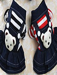 Chien Robe Vêtements pour Chien Hiver Eté Printemps/Automne PrincesseMignon Mariage Anniversaire Vacances cow-boy Mode Décontracté /