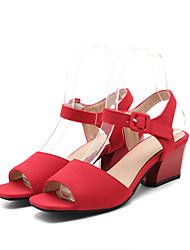 Femme-Bureau & Travail Habillé Décontracté--Gros Talon-Confort Bride de Cheville Flower Girl Chaussures-Sandales-Laine synthétique
