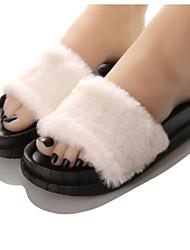Women's Slippers & Flip-Flops Summer Slingback Rubber Casual Flat Heel