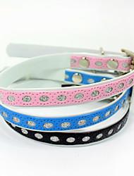/ Coloré pu colliers de chaton pet suppies Vente en gros chat chien harnais animal domestique accessoires de chien pu style style