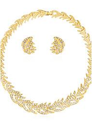 Schmuckset Halskette Ohrringe Set Modisch Euramerican Strass Aleación Sonne 1 Halskette 1 Paar Ohrringe FürHochzeit Party Geburtstag