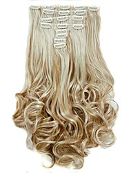 Synthetic Hair False Hair Extensions 20inch 150g Curly Hairpiece Heat Resistant Hair D1022 27H613#