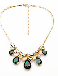 Women's Strands Necklaces Drop Chrome Unique Design Euramerican Dark Green Yellow Dark Blue Jewelry For Casual Christmas Gifts 1pc