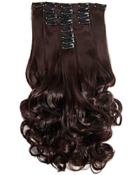 Synthetic Hair False Hair Extensions 20inch 150g Curly Hairpiece Heat Resistant Hair D1022  2/33#