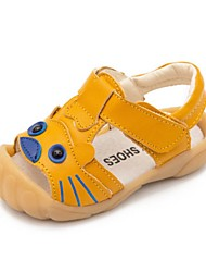 Girls' Baby Sandals First Walkers Cowhide Summer Casual First Walkers Flat Heel White Black Yellow Flat